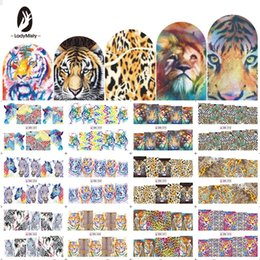 Tiger Tools Australia - LadyMisty 12 Designs In One Set Fashion Style Nail Sticker Water Transfer Tiger Leopard Animal Full Tip Nail Art Tool Whole