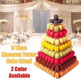 $enCountryForm.capitalKeyWord Australia - Christmas Wedding Party Cake Stand PVC 9 Tiers Macaroon Display Tower Dessert Cupcake Holder Party Decoration Black White