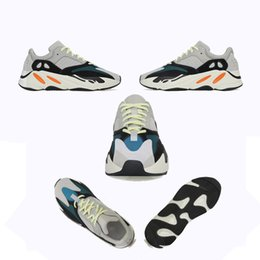 China 700 Runner Kanye West Wave Sports Running breathable mesh Shoes Sneakers Womens Mens Run 3M Shoes Design Original Box cheap mens sports lower design suppliers
