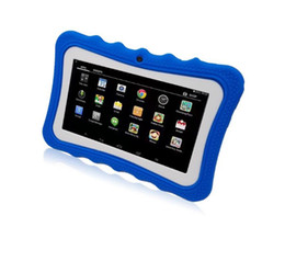 kids android tablets wholesale UK - TOP Kids Tablet PC 7 inch Quad Core children tablet Android 4.4 Allwinner A33 google player wifi big speaker protective cover A151