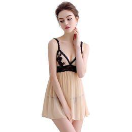 Nightwear for womeN plus size online shopping - Sexy Embroidery Nightgown Nightwear Women Strap Lace Patchwork Homewear For Women Floral Sleepwear Plus size S XL