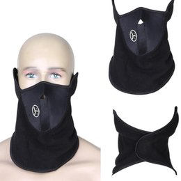 winter fleece face mask NZ - 1PCS Fleece Neck Warm Half Face Mask Winter Sport Mask Windproof Bike Bicycle Cycling Mask Ski Snowboard Outdoor Masks Dust