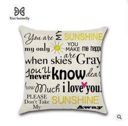 Discount words case - Fashion Pillowcase Funny Words Geometric Letter Pillow Cases Home Simple Colorful Words Love is Sweet Throw Pillow 18 St