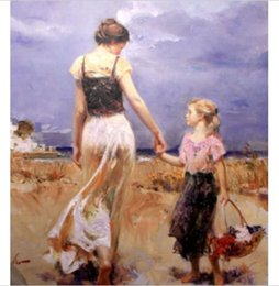 """Discount pino paintings - Hiigh Quality """"Let's Go Home"""" By Pino Handpainted & HD Printed Impressionist Art oil painting On Canvas M"""