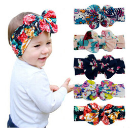 Stampa colorata Grande cinturino con fiocco Stampa bambini Stampo per bebè per neonato Nuovi accessori per capelli bohéhous Wrap per bambina