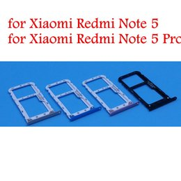 sim card tray for note NZ - for Xiaomi Redmi Note 5 Pro  Note 5 Card Tray Holder SIM Micro SD Card TF Slot Adapter Holder Redmi S2 Repair Spare Parts