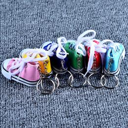 $enCountryForm.capitalKeyWord Australia - New Mini 3D Sneaker Keychain Cartoon Canvas Shoes Key Ring Tennis Shoes Chucks Keychain Promotional Gifts Bag Ornaments