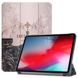 $enCountryForm.capitalKeyWord NZ - Fashion Ultra Slim Painted PU Leather Case for iPad pro 11 inch 2018 Tablet Cover with Wake Up Sleep function Stylus Pen