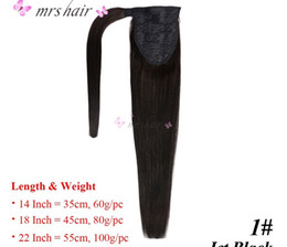 """$enCountryForm.capitalKeyWord Canada - MRS HAIR Ponytail Hair Extensions 14"""" 18"""" 22"""" Machine Made Remy Wrap Around Ponytails Real Human Hair Full Head Clip In Hairpins"""