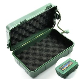 Discount Outdoor Waterproof Storage Box   Portable Outdoor Waterproof  Shockproof Airtight Survival Tool Storage Case Container