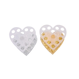 $enCountryForm.capitalKeyWord UK - Acrylic Stand Nail Brush Holder 12 Holes Heart Shape Makeup Brushes Holder Nail Art Manicure Accessories Tools Gold silver