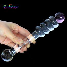 Discount sex magic stick dildo - Magic Transparent Crystal Big Bent Glass Penis Dick Cock Glass Dildo Stick Anal Plug Butt Plug Sex Toys Sexual Products