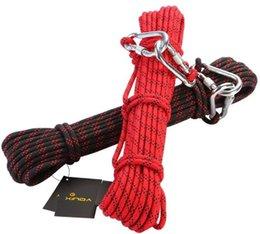 Xinda 8мм наружные походы альпинизм спасательное снаряжение безопасность веревка дикие выживания спасательная спасательная веревка для альпинизма