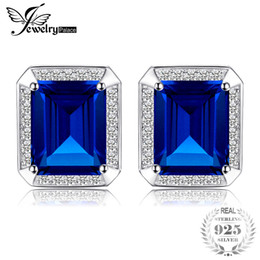 Wholesale Jewelrypalace Men Luxury ct Created Alexandrite Sapphire Cufflinks Sterling Silver Fashion Gem stone Charm Jewelry