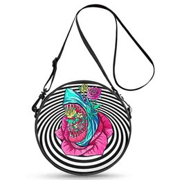 ef972facd28 2018 New Product Multi-color Circle Crossbody Bag Good Quality Handbag  Polyester Zipper Mini Round Bag for Women