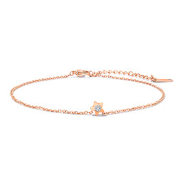 $enCountryForm.capitalKeyWord UK - Lovely Rose Gold CZ Anklets for Women Girls Ankle Chains Bracelets Adjustable Beach Anklet Foot Jewelry for Women Girls