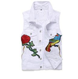 $enCountryForm.capitalKeyWord UK - Classic Vintage Men's denim Vest Tops Sleeveless Casual embroidery labeling Blue Jeans Jacket Slim Waistcoat men clothing US Size M-XXXL