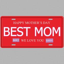 Paint Art 3d NZ - Happy Mother's Day Best Mom Super Hot 3D Emboss Retro License Plates Vintage Tin Sign Art Wall Plaque decor Home Metal Painting Bar Pub