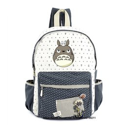 7787b715d0cc Totoro school bags for Women Girls Anime Backpack School Bags Canvas Cartoon  Book My Neighbour Totoro Printed