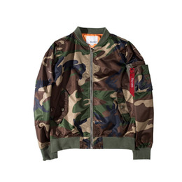 mens windbreaker jackets UK - Camouflage Mens Winter Coat Casual Panelled High Street Jacket Athletic Thin Hip Hop Windbreaker Asian Size