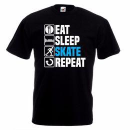 $enCountryForm.capitalKeyWord Canada - Funny Graphic Tees Eat Sleep Ice Skate T-Shirt Ice Skating Figure Christmas Birthday Gift Top O-Neck Men Short Graphic T Shirts
