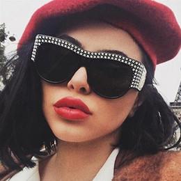 Royal blue pink decoRations online shopping - ROYAL GIRL Vintage Oversized Sunglasses Women Brand Designer Diamond Decoration Cat Eye Sun Glasses Female Shades oculos ss066