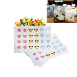 Chinese  New 240pcs lot Cute Dog Sealing Sticker Baking Packs Cat Pattern Packaging for Cookies Gift Bags Biscuit Cookie Bag manufacturers