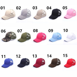 Free magic ball online shopping - Women Girls CC Ponytail Cap Messy Bun Duck cap unisex Baseball cap sports magic patch hat multicolour Back Hole colours NWH28