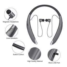 $enCountryForm.capitalKeyWord NZ - wholesale V8 Sports Headphones Neckband Style Earphone Wireless Stereo Music Headset Loud Speaker for iPhone Samsung LG