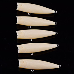 Blank Fishing Lure Bodies Australia - 20pcs Unpainted Popper Fishing Lures Topwater Blank Crankbaits DIY Carp Fish Body 85mm Hook Poper Fishing Lure Tackle for Salt Fresh Water