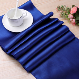 decoration for party tables NZ - 12pcs  30x275cm Satin Table Runners Modern Table Runner for Wedding Party Decoration Christmas New Year Decor for Home