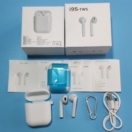 headphone vs earphone 2018 - I9S TWS Wireless Bluetooth Headphone sport magnetic Twins Earbuds Earphone Headset vs i7 i8x Charging Box For iphone XS
