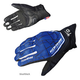 Discount screen protect 3d - KOMINE GK-191 3D Protect mesh Motorcycle Gloves breathable riding gloves Touch Screen SS