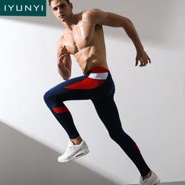 Mens Blue Shirt Black Pant Canada - IYUNYI Men's Long Johns Pants Men Fitness Tight Basic Pants Underwear Male High Elastic Termica Mens Leggings