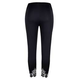 China Women Yoga Pants High Waist Plus-size Printing Pants Breathable Soft Slimming Summer Trousers 2018 New supplier plus size yoga pants wholesale suppliers
