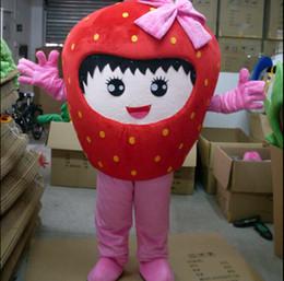 Beijo de morango Frutas Abacaxi Mascot Costume fruit Costume Mascot Personagem de Banda Desenhada Traje frete grátis em Promoção