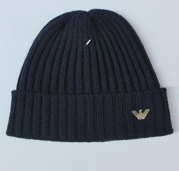 Christmas Beanies UK - men autumn winter thick knitted skull caps outdoor sports hats women uniesex beanies black grey 549