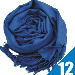 Pashmina scarf fringe online shopping - New Colors Hot Pashmina Cashmere Solid Shawl Wrap Women s Girls Ladies Scarf Soft Fringes Solid Scarf