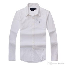 Vente en gros 2018 nouvelle chemise en coton à manches longues pour l'automne et l'hiver des hommes pur POLOshirt décontracté mode Oxford chemise marque sociale petit hor