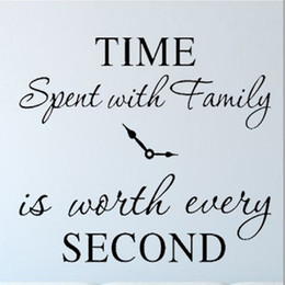 time spent with family is worth every second wall stickers removable art diy sticker family quotes home decor