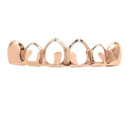 $enCountryForm.capitalKeyWord UK - Metal Sharp Upper Tooth Grillz Hollow Dental Grillz Bottom Hiphop Teeth Caps Body Jewelry for Women Men Fashion Vampire Cosplay Accessories
