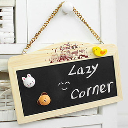 $enCountryForm.capitalKeyWord NZ - FEIS hotsale Wooden magnetic pendant mini double-sided coffee shop bar home decoration message board with erasers wedding favor