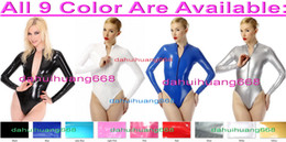 $enCountryForm.capitalKeyWord NZ - Sexy Shont PVC Body Suit Costumes Sexy 9 Color Shiny PVC Short Suit Catsuit Costumes Unisex Short Bodysuit Costumes With Front Zipper DH220