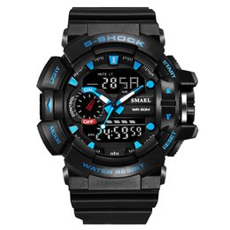 Famous Brand Watches For Men NZ - 2016 famous brand waterproof round rubber fashion casual g style digital sport watches for men relojes deportivos para hombres