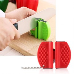 2018 tungsten pocket knives Smart Mini sharpner Ceramic Rod Tungsten Steel Camp Pocket Kitchen Knife Sharpener Tool sharper grinder random color Fast shipping discount tungsten pocket knives