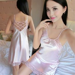 e4c06bd3d Women s underwear Ladies Sexy Satin Night Dress Sleeveless Nighties V-neck  Nightgown Plus Size Nightdress Lace Sleepwear Nightwear For Women