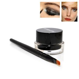 Party Queen Make Up Australia - Party queen Make Up Beauty Comestics super black waterproof sweatproof Anti oil Solid eye Strong coffee color eye line