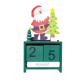 $enCountryForm.capitalKeyWord UK - Christmas Mini Wooden Calendar Xmas Ornament Home Decoration Craft Gift New Year Decorations For Home