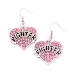 $enCountryForm.capitalKeyWord NZ - FIGHTER Heart Shape Love Earrings Studded With Sparking Crystals Pendant French Hook Earrings Commemoration Day Fashion Jewelry