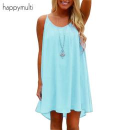 62d567da924f Happymulti Summer Women Dress Casual Straight Sleeveless Hollow Out Spaghetti  Strap Large Size Loose Dresses